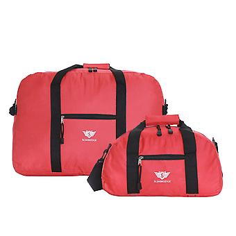 Slimbridge Ryanair-Set 2 Handgepäckstücken, rot 55 x 40 x 20 cm und 35 x 20 x 20 cm