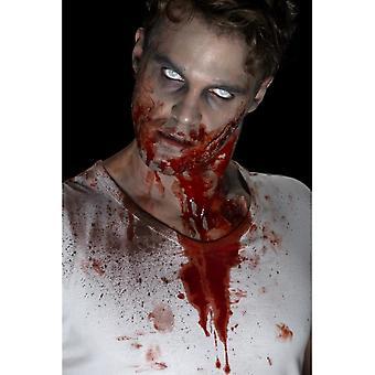 Sangue vermelho do frasco,