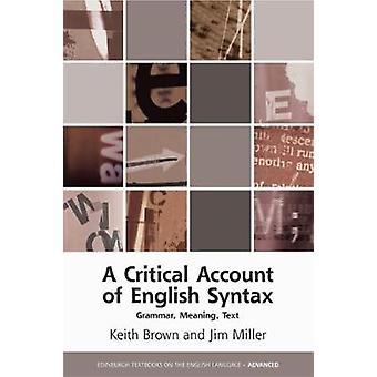 Eine kritische Darstellung der englischen Syntax - Grammatik - Bedeutung - Text von Aff