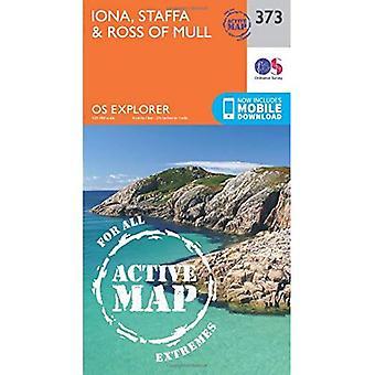 OS Explorer Karte aktiv (373) Iona, Staffa und Ross von Mull (OS Explorer aktive Karte)
