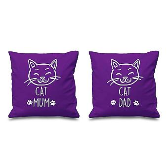 Cat Mum Cat Dad Purple Cushion Covers 16