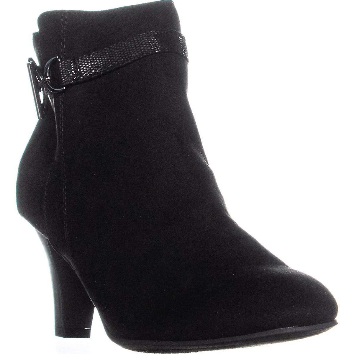 Karen Scott Womens Violaa Fabric Almond Toe Ankle Fashion Boots