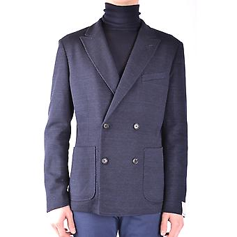 Paolo Pecora Ezbc059023 Men's Blue Cotton Blazer
