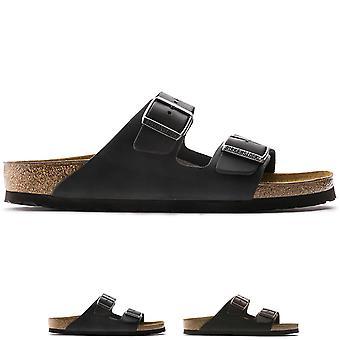 Adulte unisexe Arizona Birkenstock cuir huilé Open Toe découpe sandales