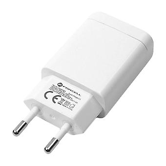 Forcell 2.4A Quick Charging Charger 3.0 + USB Cable Type C White