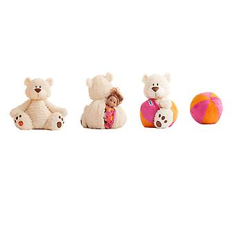 Plush - Creative Toys - Landry orange & pink Buddy Ball Teddy Bear 04010