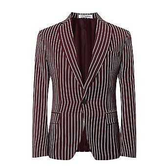 Allthemen Herren 2pcs Silm fit gestreift 2 Stück Anzug (Blazer & Hose)