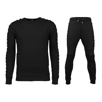 Tracksuits Basic-Braided Joggingpak-Black