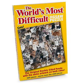 University Games The World's Most Difficult 529 Piece Jigsaw Puzzle Cats
