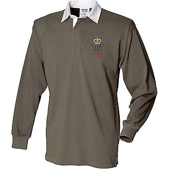 5th Royal Inniskilling Dragoon Guards Veteran - Licensed British Army Embroidered Long Sleeve Rugby Shirt