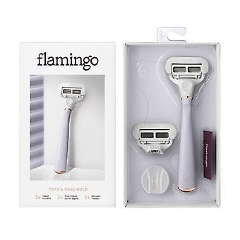 Flamingo Women's Razor de 5 hojas con cartucho de hoja de reemplazo - Taro