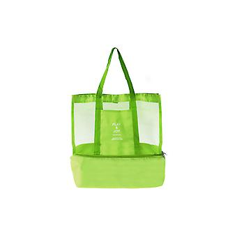 Large supple bag with Extra cooling space Green