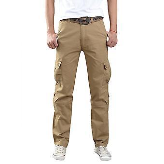 Allthemen mannen ' s katoen broek groot formaat mid-lange werk casual lange broek
