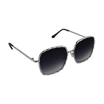 Sunglasses UV 400 Square Silver ZwartHL206_8