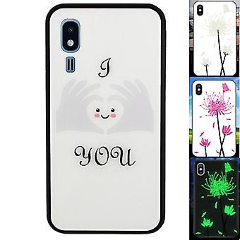 Samsung A2 core case sydän - backcover magic lasi