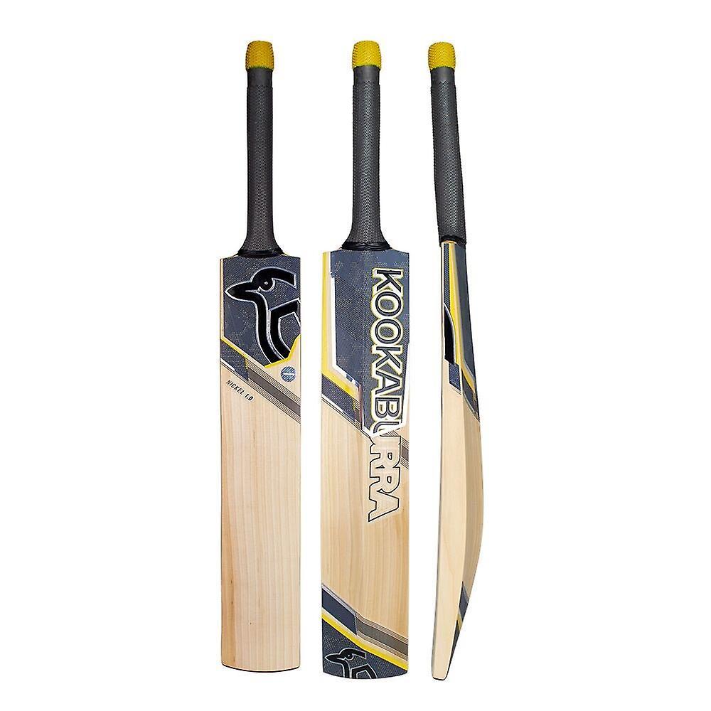 Kookaburra 2019 Nickel 2.0 English Willow Cricket Bat Black/Yellow -Short Handle