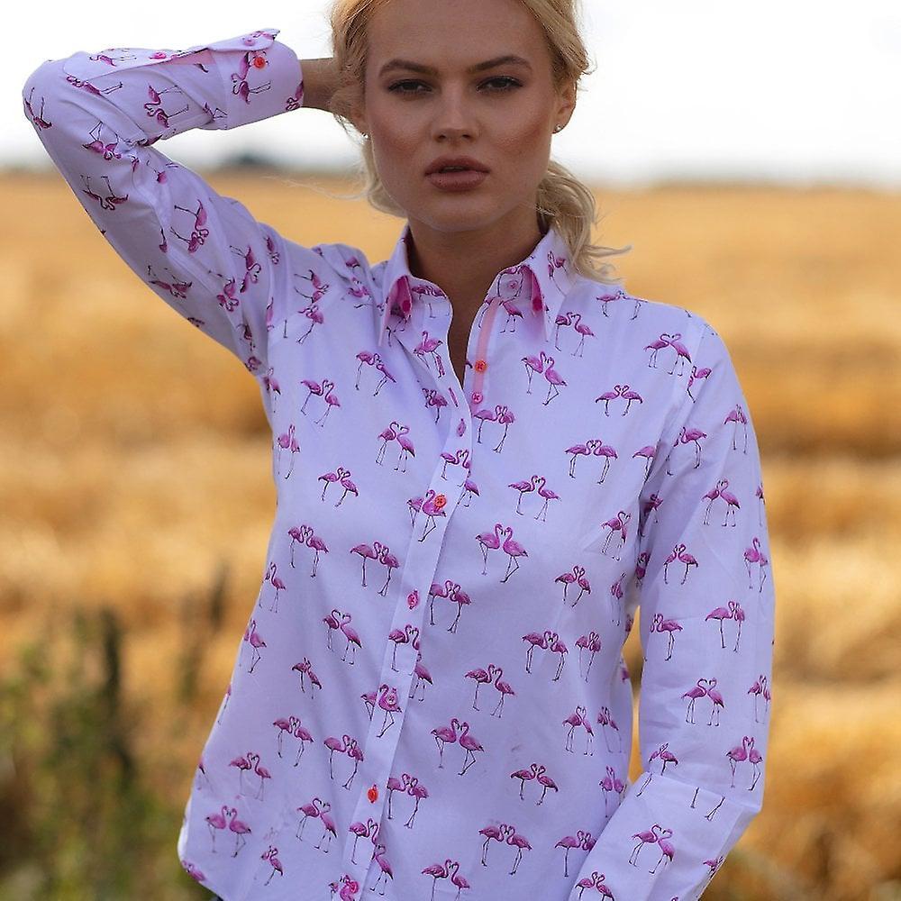Claudio Lugli Flamingo Print Ladies Shirt