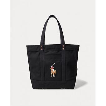 Polo Ralph Lauren Navy Blue Womens Big Pony Tote Bag