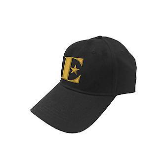 Elton John Baseball Cap Gold E Logo Captain Fantastic Official Black Strapback