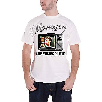 Morrissey T Shirt Stop Watching The News new Official Mens White