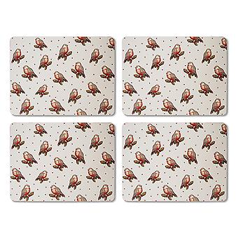 Cooksmart Red Red Robin 4-placemats-sarja