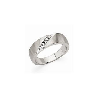 14k oro bianco raso canale impostato non engraveable mens Diamond Band Ring -.21 dwt - dimensione 10