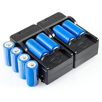8 RCR123a Baterii Li-Ion reîncărcabile & 2 încărcătoare ac pentru camere de securitate Arlo