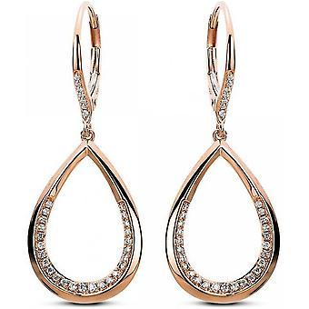 Diamond Earrings Earrings - 14K 585 Red Gold - 0.31 ct.