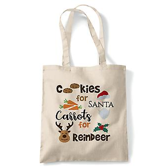 Cookies And Carrots, Tote - Christmas Reusable Canvas Bag Gift