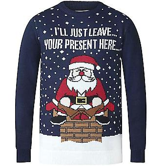 Duke D555 Mens Present Big et Tall Crew Neck Funny Novelty Christmas Jumper Top