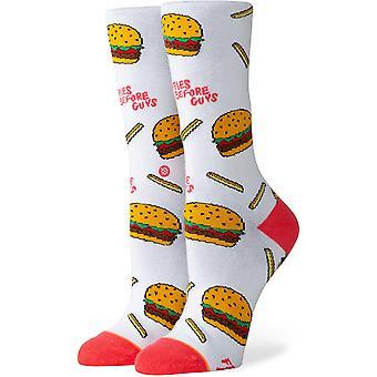Postura Fries B4 Guys Crew Socks em branco