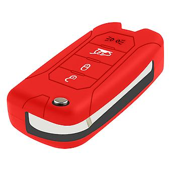 Car Key Case Jeep Renegade in Resistant Silicone - Red