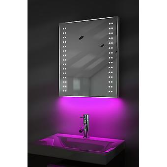 Shaver Mirror with UnderLighting, Bluetooth, Demist & Sensor k38sWaud