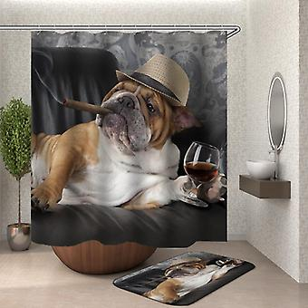Bulldog Boss dusj Curtain