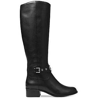 Michael Kors Womens 40F8HAMB6L Leather Round Toe Knee High Riding Boots