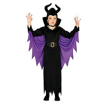 Meisjes Maleficent fancy dress kostuum