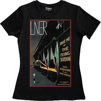 Take Me By The Flying Scotsman Black Women's T-Shirt