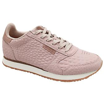 Woden Ydun Croco Clouds Nude Lace Up Trainers