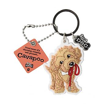Wags & Whiskers Cavapoo Keyring