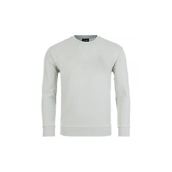 Emporio Armani Cotton Round Neck Turquoise Sweatshirt