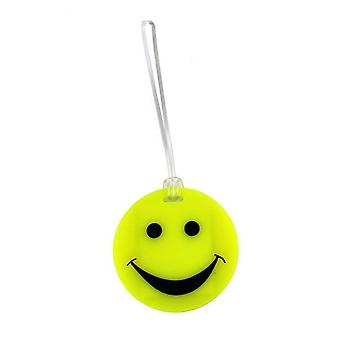 Lewis N. Clark Smiley Face Luggage Tag, 1 pc. Yellow #ID99YEL