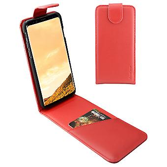For Samsung Galaxy S8 PLUS Case,iCoverLover Vertical Flip Genuine Leather,Red