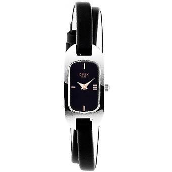 Opex OPW001 Watch - BLERINE Black Leather Bracelet Box Steel Silver Women's