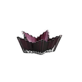 Light & Living Tealight 13.5x5.5cm - Star Clear Glass And Dark Purple