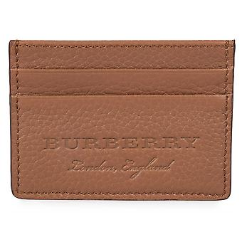Burberry Sandon Brown Grained Leather Card Holder