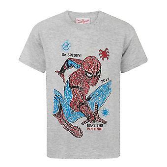 Spider-Man Homecoming Spidey Sketch Children's Boy's T-Shirt Top