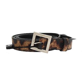 Dolce & Gabbana Brun Leopard Sølv Spenne Belte
