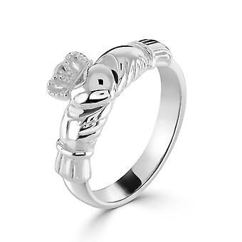 Kit Heath Heritage Sterling Silver Large Claddagh Ring 2382HP