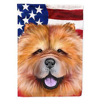 تشاو تشاو الكلب العلم الأمريكي العلم قماش البيت حجم