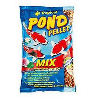 Tropiska dammen Pellet Mix 1 L 130 Grs (fisk, mat, kallt vatten)